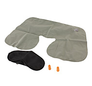 Travel Travel Sleeping Mask / Travel Pillow / Travel Ear Plugs / Camping Pillow Foldable / Portable Travel Rest Grey