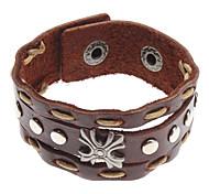 Z&X®  Cruciate Flower Rivet Leather Bracelet