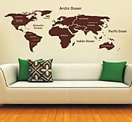 Mapa dos adesivos de parede Mundo