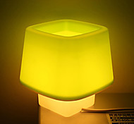Simple Cubic Design Desktop Lamp Night Light (220V, Random Color)
