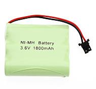 3.6V 1800 mAh AA NI-MH batería recargable