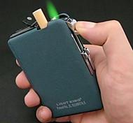 Plástico + Metal Frosting prueba de viento ligero, con estuche de cigarrillos automática (color al azar)