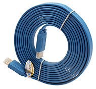 V1.4 Male to Male HDMI Cable for Smart LED HDTV, APPLE TV, PS3, XBOX360, Blu-ray (3 m, Blue)