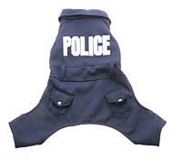 Police Style Coat with Pants for Dogs (XS-XL, Blue)