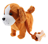 Singing and Dancing Toy Carrying Bone Plush Puppy (3xAA)