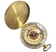 Compasses Hiking Climbing Camping Travel Compact Size Navigation Copper Gold pcs