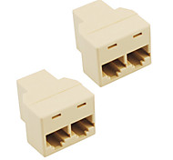 RJ45 Splitter-Stecker-Adapter (2-Pack)