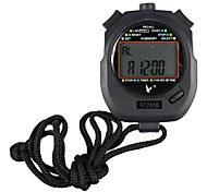 Black Shockproof Wearable Outdoor Stopwatch with Countdown Timer Function