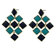 Resin Square Piece Decorative Earrings