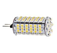 daiwl g4 5w 102x3528 smd 400-420lm 3000-3500K cálida luz LED bombilla de maíz blanco (12v)