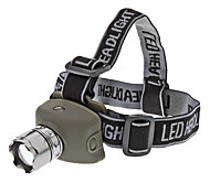 LED Flashlights/Torch / Headlamps LED 3 Mode 200 Lumens Tactical / Self-Defense Cree XR-E Q5 AAA Others , Black Rubber