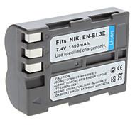 Digital Video Batteria Sostituire Nikon EN-EL3e per Nikon D50 D70 e più (7,4 V, 1500 mAh)