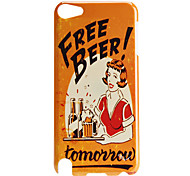 Beer and Girl Pattern Hard Case for iTouch 5