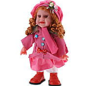 Singing and Dancing Toy Curly Hair Girl in Fashionable Clothes (3xAA, Random Color)