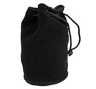 Algodón Franela bolsa protectora para la lente de cámara C2 (75 * 130 mm, Negro)