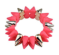 European Style  Fashion Double Row Fluorescence Color Resin  Rivet Bracelet