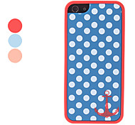 puntini e motivo di ancoraggio 2 in 1 paraurti e di caso per il iphone 5/5s
