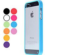 Transparent Body and TPU Bumper PC Hard Back Case for iPhone 5/5s/SE (Assorted Colors)