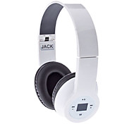 High Quality Stereo Headphone Jack-603 with FM, LED Display (White)