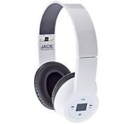 Alta qualidade fone de ouvido estéreo-603 com FM, Display LED (Branco)