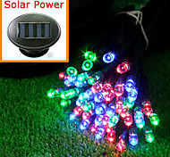 Solar Powered 12M 100-LED Colorful Light Flashing String Lamp