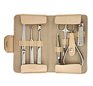 Personal Care 8pcs Cosmetic Manicure Kits Set with Beige Portable Bag