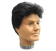 High Quality Synthetic Capless Short Straight Brown Men's Wigs