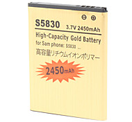 2450mAh High-Capacity Gold Batterie S5830-GD für Samsung S5830