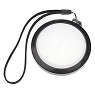 MENNON 62mm Camera White Balance Lens Cap Cover with Hand Strap (Black & White)