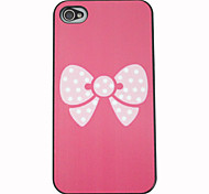 Macchie bianche bowknot Back Cover per iPhone 4/4S