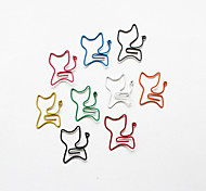 clips coloridos do estilo gato de papel (cor aleatória, 10-pack)