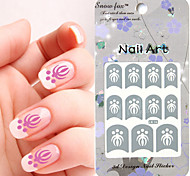 3PCS Mixed-style Paper Nail Art Image Stamp Stickers LK Series No.4