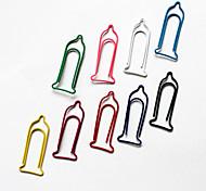 Condom Pattern Plastic Wrapped Paper Clips(10PCS Random Colors)