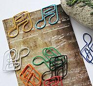 estilo semiquaver colorido clips (color al azar, 10-pack)
