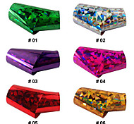 1PCS Laser Foil Nail Decorations Starry Stickers No.1-6(120x4x0.1cm,Assorted Colors)