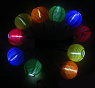 Solar Powered Chinese Lantern Style Colorful Light LED Lamp
