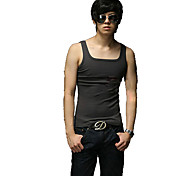 Мужская площади Solid Color Sleevless жилет футболки