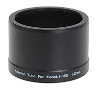 52mm Objektiv und Filter Adapter Tube für Kodak P880 Digitalkamera schwarz