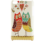 Loving Owl Pattern Hard Case for iPod Touch 4