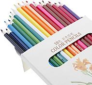 18 lápices de colores de madera Conjunto