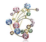 eruner®colorful импорт кристалл Pteris шаблон брошь (разных цветов)