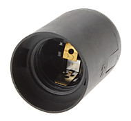 E27 Base Bulb Socket Lamp Holder (Black)
