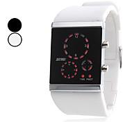 Unisexe Silicone LED montre-bracelet numérique (couleurs assorties)