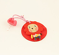 Cartoon Rubber Lion Anti-Dust Earphone Jack with Mobil Phone Screen Cloth