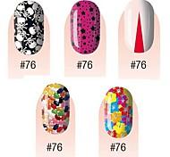 yemannvyou®28pcs 3d ультратонкий полное покрытие ногти наклейки s1 серия № 1 (разные цвета)