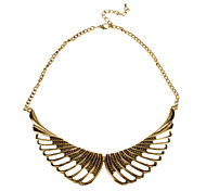 Hollow Out Wings Alloy Necklace