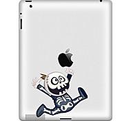 Patrón encantador de la historieta pegatina protectora para el iPad 1, iPad 2, iPad 3 y el nuevo iPad
