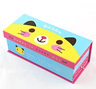 Cartoon Double-deck Paper Pencil Case(Random Colors)