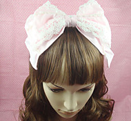 Lolita Jewelry Sweet Lolita Headwear Princess Pink Lolita Accessories Headpiece Bowknot / Solid For Women Cotton