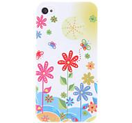 Piccolo fiore modello Custodia protettiva rigida per iPhone 4/4S